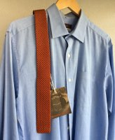 シルクニットタイ オレンジ Silk Knit Tie Orange/Workers
