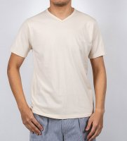 【30%OFF】3-PLY-Tシャツ, Vネック Oatmeal/Workers<img class='new_mark_img2' src='https://img.shop-pro.jp/img/new/icons16.gif' style='border:none;display:inline;margin:0px;padding:0px;width:auto;' />