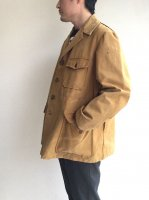 1940-1950's French Brown Duck Hunting Jacket Camel