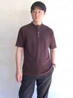 germanhenley linenjersy polo bitterbrown/DjangoAtour<img class='new_mark_img2' src='https://img.shop-pro.jp/img/new/icons3.gif' style='border:none;display:inline;margin:0px;padding:0px;width:auto;' />