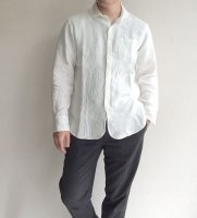 frenchlinen easy shirt white/DjangoAtour<img class='new_mark_img2' src='https://img.shop-pro.jp/img/new/icons3.gif' style='border:none;display:inline;margin:0px;padding:0px;width:auto;' />