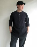 antiqued german linen shirt black/DjangoAtour