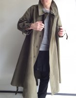 1950年代フランス軍 モーターサイクルコート1950's Dead Stock French Military Motorcycle Coat Khaki<img class='new_mark_img2' src='https://img.shop-pro.jp/img/new/icons3.gif' style='border:none;display:inline;margin:0px;padding:0px;width:auto;' />