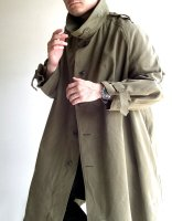 1950年代フランス軍モーターサイクルコート 1950's Dead Stock French Military Motorcycle Coat Khaki<img class='new_mark_img2' src='https://img.shop-pro.jp/img/new/icons3.gif' style='border:none;display:inline;margin:0px;padding:0px;width:auto;' />