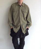 1970年代イギリス王室軍アーミーウールシャツ 1970's British Royal Army Wool Shirt Light Khaki<img class='new_mark_img2' src='https://img.shop-pro.jp/img/new/icons3.gif' style='border:none;display:inline;margin:0px;padding:0px;width:auto;' />