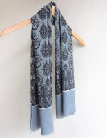 1960-1970's French Paisley Print Wool Stole Grey<img class='new_mark_img2' src='https://img.shop-pro.jp/img/new/icons3.gif' style='border:none;display:inline;margin:0px;padding:0px;width:auto;' />
