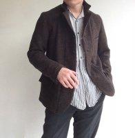 classic shetlandwooltweed tailor jacket brown/DjangoAtour