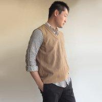 1950年代フランスのウールフランネル製アンダージレ 1950's French Wool Flannel Under Gillet Light Brown<img class='new_mark_img2' src='https://img.shop-pro.jp/img/new/icons3.gif' style='border:none;display:inline;margin:0px;padding:0px;width:auto;' />
