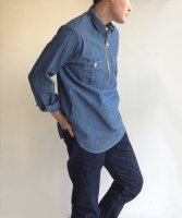 Zip Work Shirt, Blue Chambray/Workers