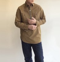 Zip Work Shirt, Khaki Shirting/Workers<img class='new_mark_img2' src='https://img.shop-pro.jp/img/new/icons3.gif' style='border:none;display:inline;margin:0px;padding:0px;width:auto;' />