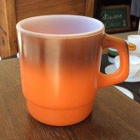 スタッキングマグ茶〜オレンジ 1960〜1976年製造 Firekingファイヤーキング