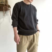 【20SS】WASHI COTTON SUMMER SWEATER Charcoal/KAPTAIN SUNSHINE