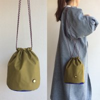KINCHAKU BAG OLIVE キンチャクバッグ・オリーブ/THE CANVET<img class='new_mark_img2' src='https://img.shop-pro.jp/img/new/icons3.gif' style='border:none;display:inline;margin:0px;padding:0px;width:auto;' />