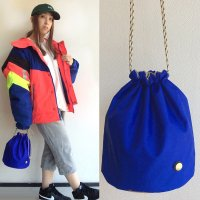 KINCHAKU BAG BLUE キンチャクバッグ・ブルー/THE CANVET<img class='new_mark_img2' src='https://img.shop-pro.jp/img/new/icons3.gif' style='border:none;display:inline;margin:0px;padding:0px;width:auto;' />