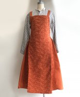 【30%OFF】EURO KITCHEN APRON SKIRT Orange/NAPRON<img class='new_mark_img2' src='https://img.shop-pro.jp/img/new/icons16.gif' style='border:none;display:inline;margin:0px;padding:0px;width:auto;' />