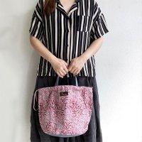 ペイシェントバッグ・ウイリアムモリス・ピンク  PATIENT BAG Pink/NAPRON