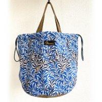 【PRICE DOWN】ペイシェントバッグ・ウイリアムモリス・ブルー  PATIENT BAG Blue/NAPRON