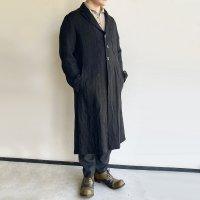 anotherline heavylinen coat black/DjangoAtour anotherline