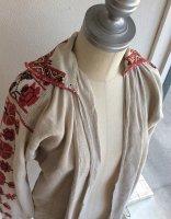 1900年代初頭ウクライナのリネン刺繍ドレス 1900-1920's Ukrainian Embroidered Dress Ivory