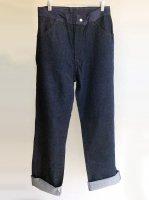 1960年代イギリス刑務所の囚人用デニムパンツ 1960's Dead Stock British Denim Pants Indigo