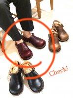【オーダー受付休止期間です】「blues ブルース」クロムエクセル・バーガンディ おでこ靴職人が作ったサボサンダル/ヒラキヒミ。