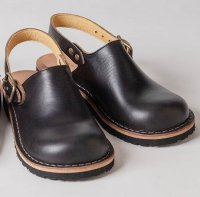 【オーダー受付休止期間です】「blues ブルース」クロムエクセル・ブラック おでこ靴職人が作ったサボサンダル/ヒラキヒミ。