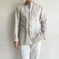 classic frenchwork pencilstripelinen shirt antique-white/DjangoAtour