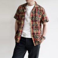【PRICE DOWN】Open Collar Shirt Peacock/Workers