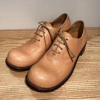 【オーダー受付を終了しました】「東雲 しののめ」クロムエクセルレザー・ナチュラル/おでこ靴職人ヒラキヒミ。