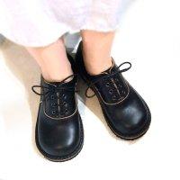 【オーダー受付終了しました】「cobato こばと」クロムエクセルレザー・ブラック/おでこ靴職人ヒラキヒミ。