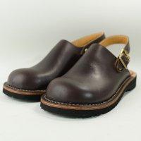 「blues ブルース」トイアーノ・ブラウン おでこ靴職人が作ったサボサンダル/ヒラキヒミ。