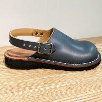 「blues ブルース」トイアーノ・ネイビー おでこ靴職人が作ったサボサンダル/ヒラキヒミ。
