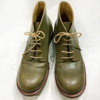 P-38 ピーサンジュウハチ・グリーン/おでこ靴職人ヒラキヒミ。