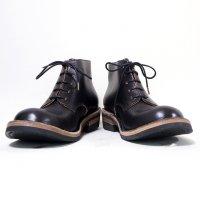 【オーダー受付休止期間です】「P-38 ピーサンジュウハチ」クロムエクセルレザー・ブラック/おでこ靴職人ヒラキヒミ。