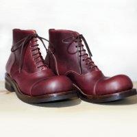 【オーダー受付休止期間です】「follow フォロー」クロムエクセルレザー・バーガンディ/おでこ靴職人ヒラキヒミ。