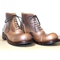 【オーダー受付を終了しました】「follow フォロー」クロムエクセルレザー・ナチュラル/おでこ靴職人ヒラキヒミ。