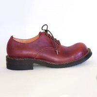 【オーダー受付休止期間です】「Charlie チャーリー」クロムエクセルレザー・バーガンディ/おでこ靴職人ヒラキヒミ。