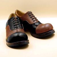 「libertango リベルタンゴ」ブラック×ブラウンMIX/おでこ靴職人ヒラキヒミ。