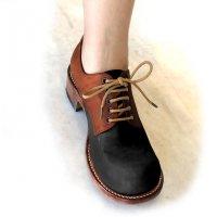 【終了しました】「Charlie チャーリー」トイアーノコンビ・ブラック×ブラウン/おでこ靴職人ヒラキヒミ。