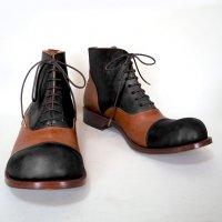 「follow フォロー」ブラック×ブラウン/おでこ靴職人ヒラキヒミ。