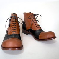 「follow フォロー」ブラウン×ブラック/おでこ靴職人ヒラキヒミ。