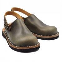 【数量限定・即納】「blues ブルース」クロムエクセル・グリーン おでこ靴職人が作ったサボサンダル/ヒラキヒミ。