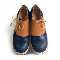 【終了しました】「dance dance dance」トイアーノ・ネイビー×キャメル/おでこ靴職人ヒラキヒミ。