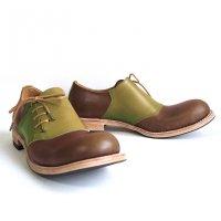 【終了しました】「dance dance dance」トイアーノ・ブラウン×グリーン/おでこ靴職人ヒラキヒミ。