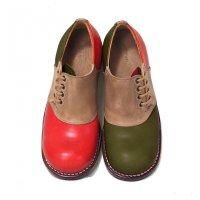 「dance dance dance」トイアーノトリプル・グリーン×レッド/おでこ靴職人ヒラキヒミ。