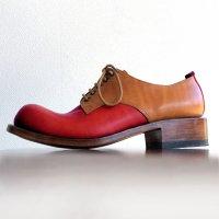 「Charlie チャーリー」トイアーノコンビ・レッド×キャメル/おでこ靴職人ヒラキヒミ。