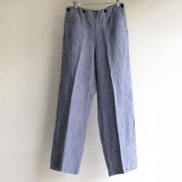 1960's French Navy Linen Marine Trousers Light Saxe Blue<img class='new_mark_img2' src='https://img.shop-pro.jp/img/new/icons3.gif' style='border:none;display:inline;margin:0px;padding:0px;width:auto;' />