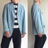 1980's Italian Sports Summer Jacket by FILA  Saxe Blue