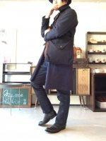 ブラックヘビーリネンフレンチショルダーバッグ Black Heavylinen french shoulder bag/DjangoAtour