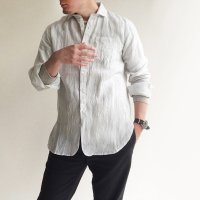 DAリネンイージーシャツ スノーホワイト DA linen Easy Shirt Snow White/DjangoAtour